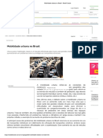 Mobilidade Urbana No Brasil - Brasil Escola