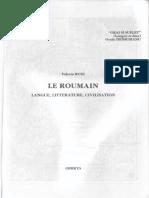 Rusu Valeriu Le Roumain Langue Litterature Civilisation
