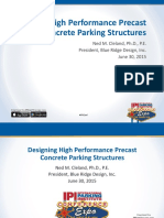 1035 Designing High-Performance Precast Concrete Parking Structures Ned Cleland 1