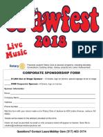 Crawfest 2018 Sponsorship Form