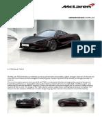 McLaren 720s Coupe Order Summary