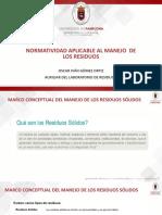 Normatividad Aplicable Al Manejo de Residuos.
