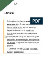 Coven – Wikipédia, A Enciclopédia Livre
