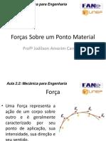 Aula A2.2 - Forças sobre um  Ponto Material_ R2.pdf
