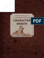 Pathfinder Character Sheets (2)
