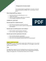 Sample Report Writing