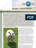 Cloned Animals — 2010 Update