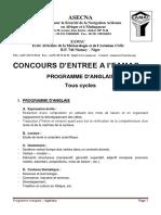 Program_anglais Tous Cycles