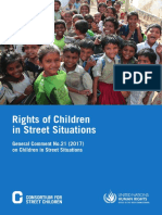 Rights of children in street situation