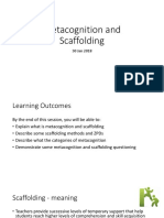 Notes Metacognition and Scaffolding