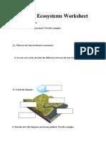 edbio4000 - aquatic worksheet