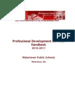 2010 - 2011 Professional Development Handbook