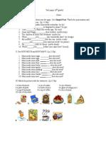 Test Cls. 5-A Sem. II X 30