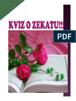 Kviz o Zekatu!!!