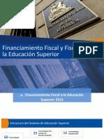 Financiamiento Educacion Superior CGR 2015