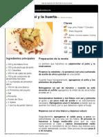 Hoja de Impresión de Fideuá Del Corral y La Huerta