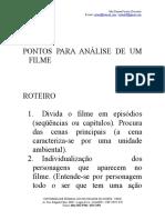 Pontos Para Análise de Um Filme num trabalho acadêmico
