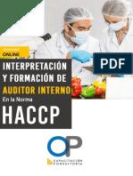 Media Beca Online Auditor Interno en La Norma HACCP