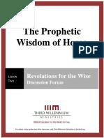 The Prophetic Wisdom of Hosea – Lesson 2 – Forum Manuscript