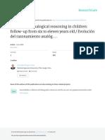 Evolución del razonamiento analógico en niños