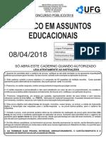 PROVA Tecnico_assuntos_educacionais UFG 2018