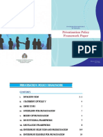 Privastisation Policy Framework Paper