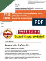Footb-All mix   Concurso Latino de afiches 2018 del Encuentro Latinoamericano de Diseño