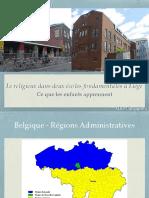 Le religieux dans deux écoles fondamentales à Liège Ce que les enfants apprennent