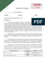 Respuesta parlamentaria por el Grado en Criminología de la URJC.