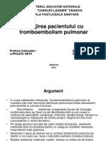 Îngrijirea Pacientului Cu Tromboembolism Pulmonar