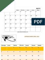 Calendario Astral Mayo