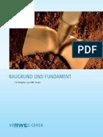 Baugrund Und Fundament - Ein Ratgeber Von RWE Power