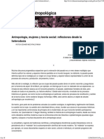 Antropología, Mujeres y Teoría Social_ Reflexiones Desde La Heterodoxia _ Dimensión Antropológica