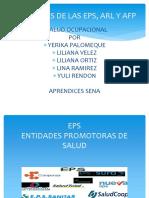 Funciones de Las Eps, Arl y Afp
