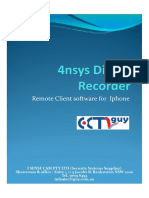 4nsys FDS DVR iPhone Manual