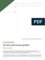 Federico Kukso. en Busca Del Océano Perdido. El Dipló. Edición Nro 224 - Febrero de 2018