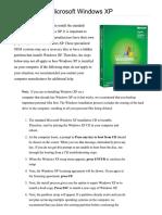 How to Install WindowsXP