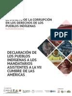 Declaración de  Pueblos Indígenas a los mandatarios asistentes a la VIII Cumbre de las Américas