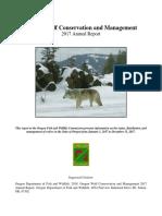 Oregon Wolf Report