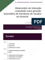 Geração Automática de Interfaces de Usuário