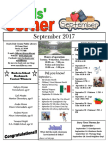 9. September 2017 Kids' Corner Newsletter