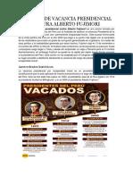 Proceso de Vacancia Presidencial Contra Alberto Fujimori