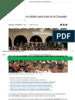 Baleares Exige El Catalán Para Tocar en La Orquesta Sinfónica _ Baleares