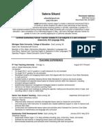 current resume-salena sikand