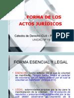 Forma de los actos jurídicos