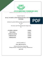 8th Sem B.tech Project Final