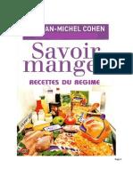 Recettes Minceur Jean Michel Cohen