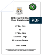 2018 African Individual Chess Championships Invitation