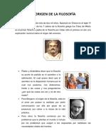 El Origen de La Filosofía