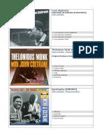 John Coltrane Discos